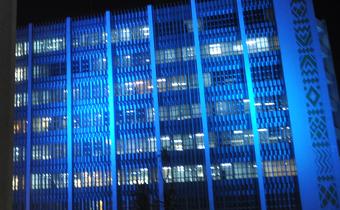 'Turn the world UN blue': UN buildings in Ethiopia turn blue to mark UN Day