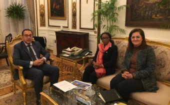 Vera Songwe s'entretient avec le gouvernement égyptien à propos des réformes économiques, des financements innovants et de la ZLECA