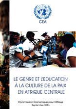 Le genre et l'éducation à la culture de la paix en Afrique centrale
