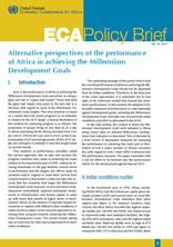 Alternative perspectives of the performance of Africa in achieving the Millennium Development Goals