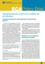 Managing diversity in Africa for credible and fair elections