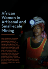 African Women in Artisanal and Small-scale Mining