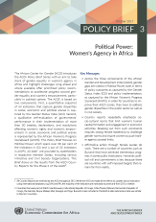 Policy Brief 3 - Political Power: Women's Agency in Africa