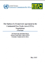 The Option of a Framework Agreement in the Continental Free Trade Area (CFTA) Negotiations