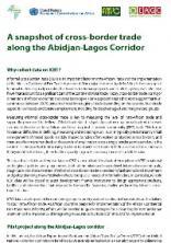 A snapshot of cross-border trade along the Abidjan-Lagos Corridor