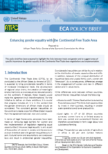 Enhancing gender equality with the Continental Free Trade Area