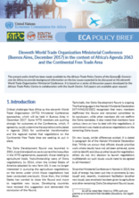 Eleventh World Trade Organization Ministerial Conference (Buenos Aires, December 2017) in the context of Africa's Agenda 2063 and the Continental Free Trade Area