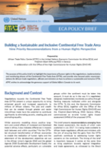Building a Sustainable and Inclusive Continental Free Trade Area
