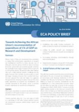 Towards Achieving the African Union's recommendation of expenditure of 1% of GDP on Research and Development