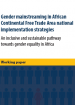 Gender mainstreaming in African Continental Free Trade Area national implementation strategies