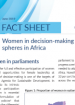 Fact Sheet -  Women in decision-making spheres in Africa