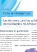 Fiche d'information - Les femmes dans les sphères décisionnelles en Afrique