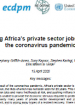 Saving Africa's private sector jobs during the coronavirus pandemic