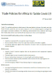 Trade Policies for Africa to Tackle Covid-19